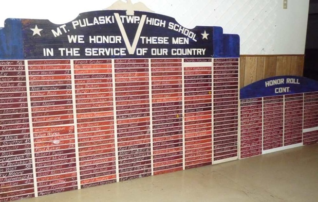 WWII Honor Roll HS Board